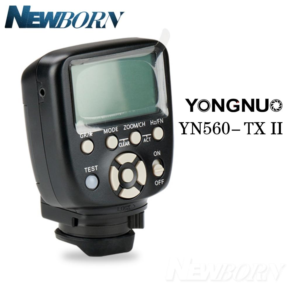 Neueste Yongnuo YN560 TX II Flash Wireless Trigger Manuelle Flash Controller für Canon Nikon YN560IV YN660 968N YN860Li Speelite-in Blitze aus Verbraucherelektronik bei  Gruppe 1