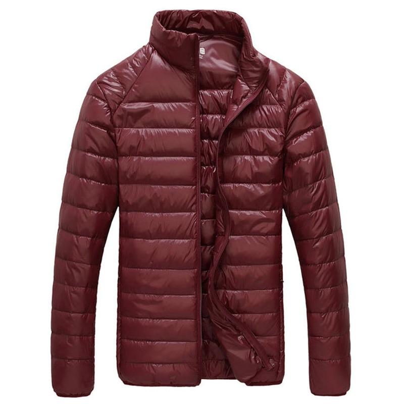 Men Winter Jacket 2019 New Ultra Light 90% White Duck Down Jackets Casual Portable Winter Coat for Men Plus Size 4XL 5XL 6XL