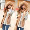 Lanxxy New Fashion Women Scarf Set Thick Warm Hat Scarf and Gloves Set Winter Hats Scarfs Sets with Pockets Women's Hats