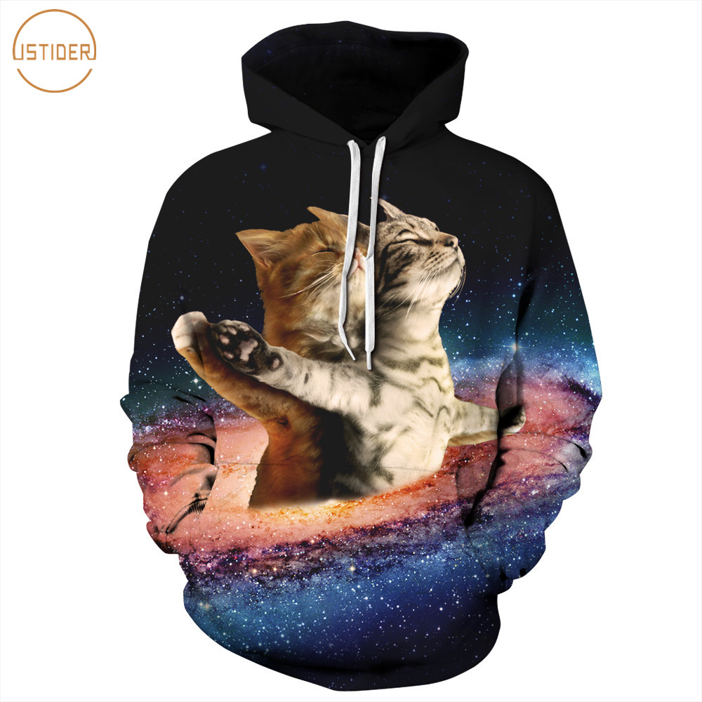 413964d9c4 Detail Feedback Questions about ISTider Fashion New Cat Lover Space Galaxy Hoodies  Sweatshirt Women Men 3D Cats Titanic Spoof Funny Hooded Hoodie Casual ...