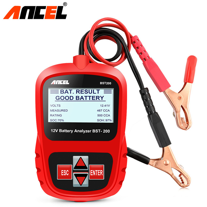 ANCEL Bst200 Car Battery Tester Multi-language 12V 1100CCA Battery System Detect Automotive Bad Cell Battery Diagnostic Tool