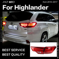 AKD Car Styling for Toyota Highlander LED Tail Light 2015 New Kluger LED Tail Lamp DRL Signal Brake Reverse auto Accessories