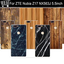 Wood grain 5.5 For ZTE Nubia Z17 nx563j Snapdragon 835 Cover Case Hard PC Back Phone Shell