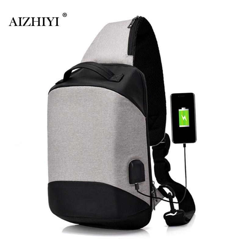 Anti-Theft Sling Bag Canvas USB Soft Crossbody Chest Shoulder Bag Hidden Pack Retro Vertical Square Phone Bag