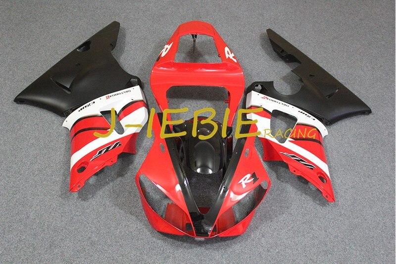 Red black white Injection Fairing Body Work Frame Kit for Yamaha YZF 1000 R1 2000 2001