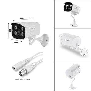 Image 5 - Câmera de segurança ahd full hd 1080p 720p, para uso externo, à prova d água, 4 peças, array, infravermelho, visão noturna, metal, vigilância por bala câmera cctv para vigilância