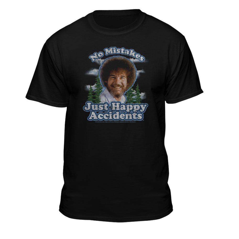 d5aa57672 Bob Ross No Mistakes Just Happy Accidents Official T-Shirt metallica fan t  shirt metallica