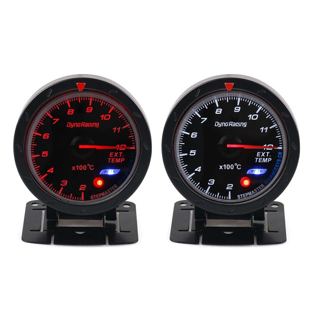 Dynoracing 60 мм Автомобильный датчик температуры выхлопных газов EGT/EXT датчик температуры с красным и белым светильник автомобильный измеритель с датчик EGT BX101474