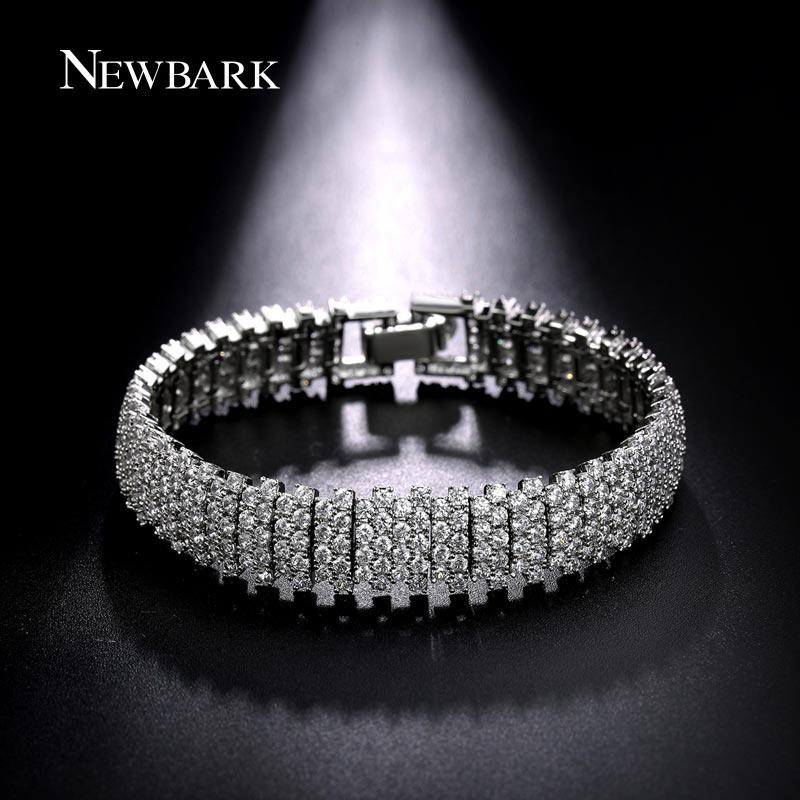 font b NEWBARK b font White Gold Plated 17cm 19cm font b Bracelet b font