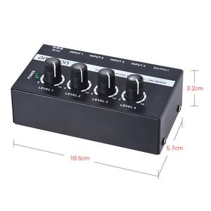 Image 4 - Ammoon MX400 4 채널 믹서 초소형 저잡음 4 채널 라인 모노 오디오 믹서 (전원 어댑터 포함)