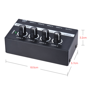 Image 4 - ammoon MX400 4 Channels Mixer Ultra compact Low Noise 4 Channels Line Mono Audio Mixer with Power Adapter