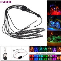 Auto Car Styling Led 8PCS RGB LED Car Motorcycle Chopper Frame Glow Lights Flexible Neon Strips