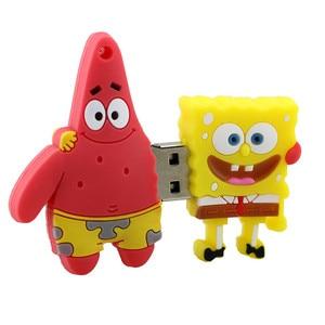 Image 2 - Pendrive 4 Gb 8 Gb 16 Gb 32 Gb 64 Gb Usb Flash Drive Carino Spongebob Patrick Insieme Disc di U bello Creativo Del Fumetto Pen Drive