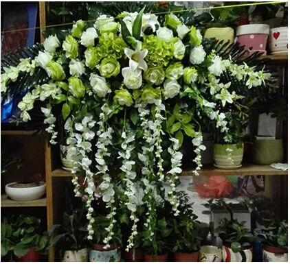 Fleurs De Table De Mariage Artificielle Rose Lily Gros Bouquet