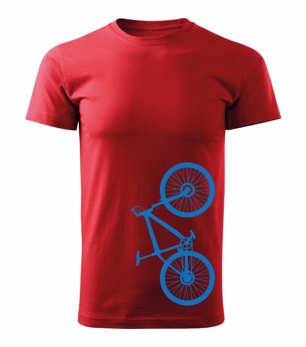 Men 2018 Summer Round Neck Mens T Shirt Hipster Cool O Neck Tops Biker Cycler Bicycle Mountain Biker Cool Tees