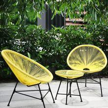 3 шт./компл. балкон кафе стол и стулья набор креативное дышащее сиденье для кемпинга Тяжелая загрузка пластиковая проволока+ стальной набор мебели для патио
