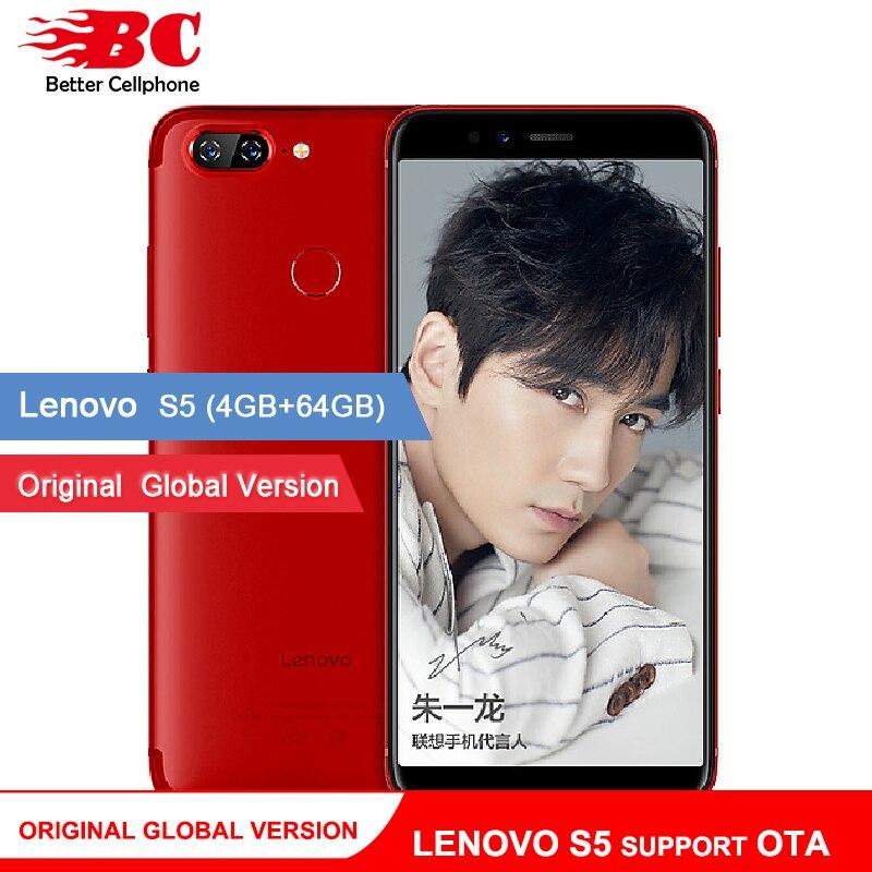 Первоначально Глобальный Lenovo S5 смартфон K520 K520T 64 ГБ Поддержка оты отпечатков пальцев Face ID Snapdragon 625 Восьмиядерный двойной сзади Камера