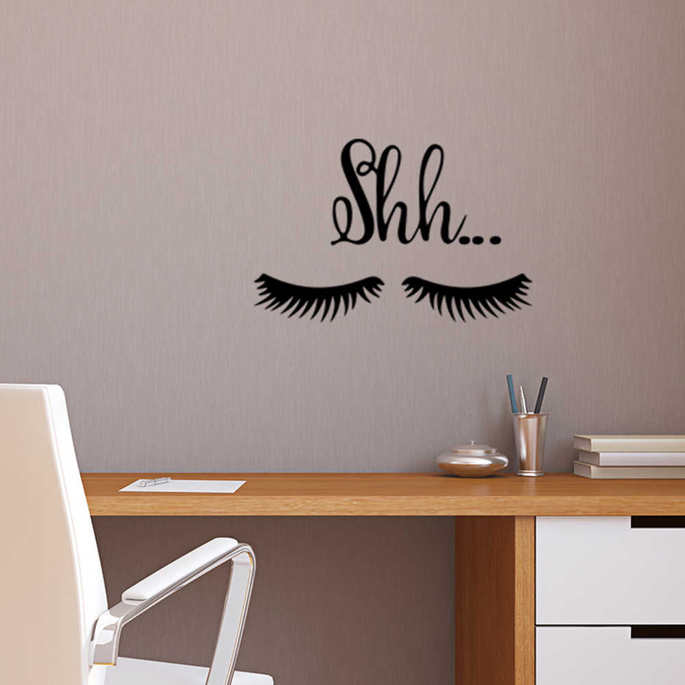 Baru Sexy Bulu Mata Stiker Dinding Ruang Tamu Kamar Tidur Jendela Wallpaper Decal Seni Dekorasi