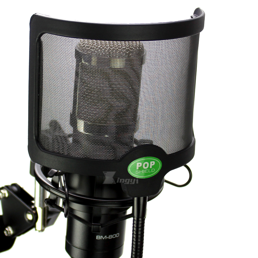 Universal Shock Mount Stand Mic Pop Filter Foam Recording Microphone Wind Screen Shield Clamp For BM800 BM700 Broadcast Studio