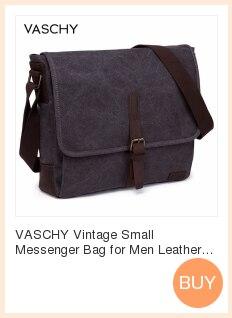 Vaschy vintage pequeno mensageiro saco de lona