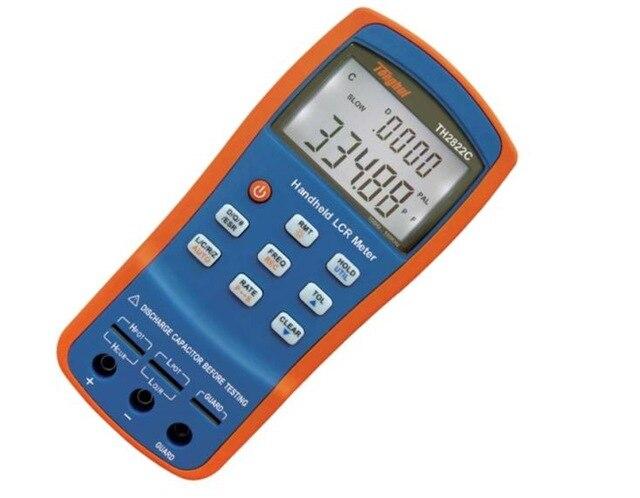 Handheld LCR Digital Bridge Meter Inductance Capacitance Resistance LCR QZD ESR DEG Tester 100KHz USB TH2822C ut612 digital lcr meter with inductance capacitance resistance frequency tester