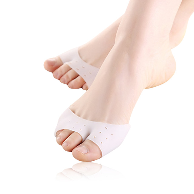 1 Pair foot care Multifunctional Silicone Hallux Valgus Correction Toe Separators Tiptoe Sleeve Forefoot Pad Sock Foot Care Tool