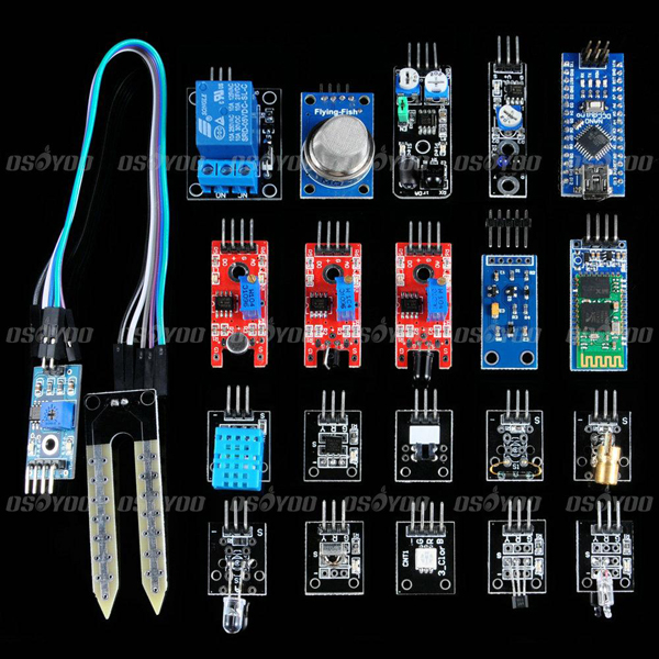 цена на Nano V3.0 Board + Sensor Starter Module Kit For Arduino Starter With Plastic Box Free Shipping & Drop Shipping