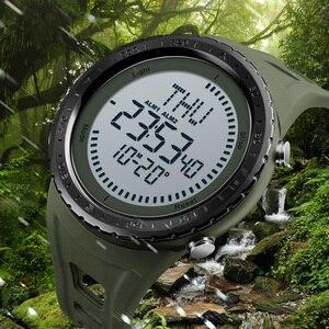 Image 4 - 2018 skmei relógio digital masculino masculino ao ar livre 50 m à prova dwaterproof água relógio de contagem regressiva compass cronógrafo relógio do esporte homem relogio masculino
