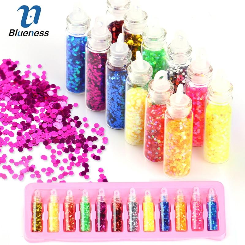 12 MiNi Bottles Adhesives Nail Studs Supplies Charm
