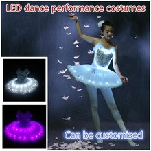 Diy Glowing adult dance costumes Fluorescent ballet skirt LED luminous stage Starlight childrens