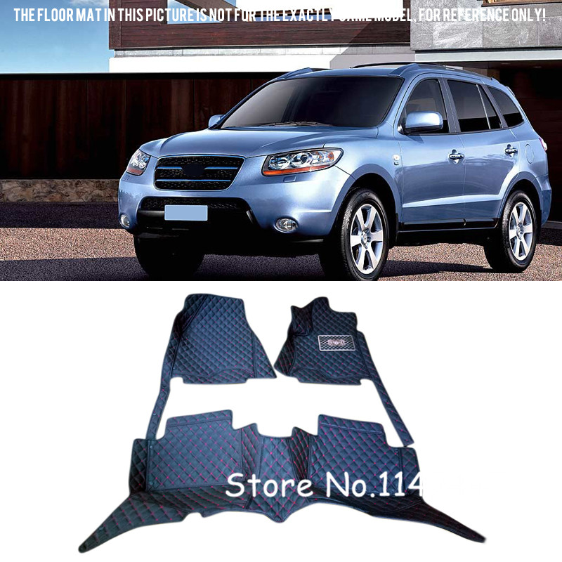 For Hyundai Santa Fe 2006 2007 2008 2009  Waterproof  Auto Custom Car Floor Mats Front and  Rear Full Cover