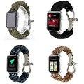 Deportes tejido pulsera de cuerda de nylon correa de reloj banda para iwatch apple watch band reemplazo 38mm 42mm envío gratis
