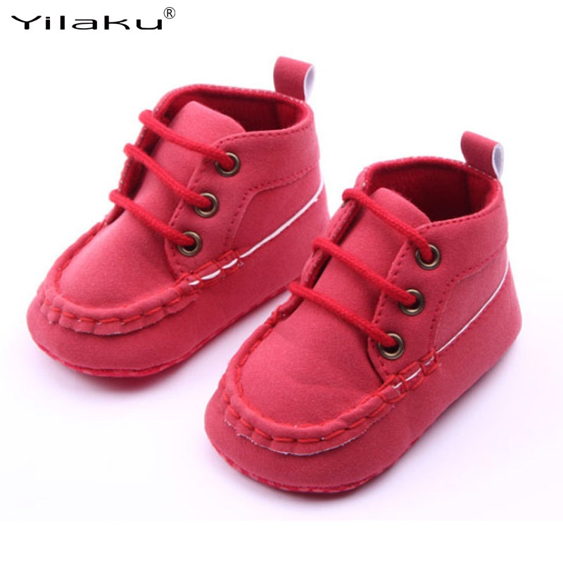 Mother & Kids Yilaku Kids Spring Anti-slip Baby Shoes Nubuck Leather Lace-up Baby First Walkers Toddler Prewalker Shoes Kinder Schuhe Cq126 Possessing Chinese Flavors