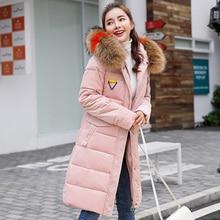 Winter Woman Coats 2019 Fur Collar Long Jacket Women Hooded Gold Velvet Fabric Thick Warm Wadded Parkas Outwear