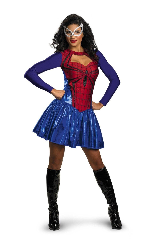 Popular Spiderman Costume Halloween Costumes for Women-Buy Cheap ...