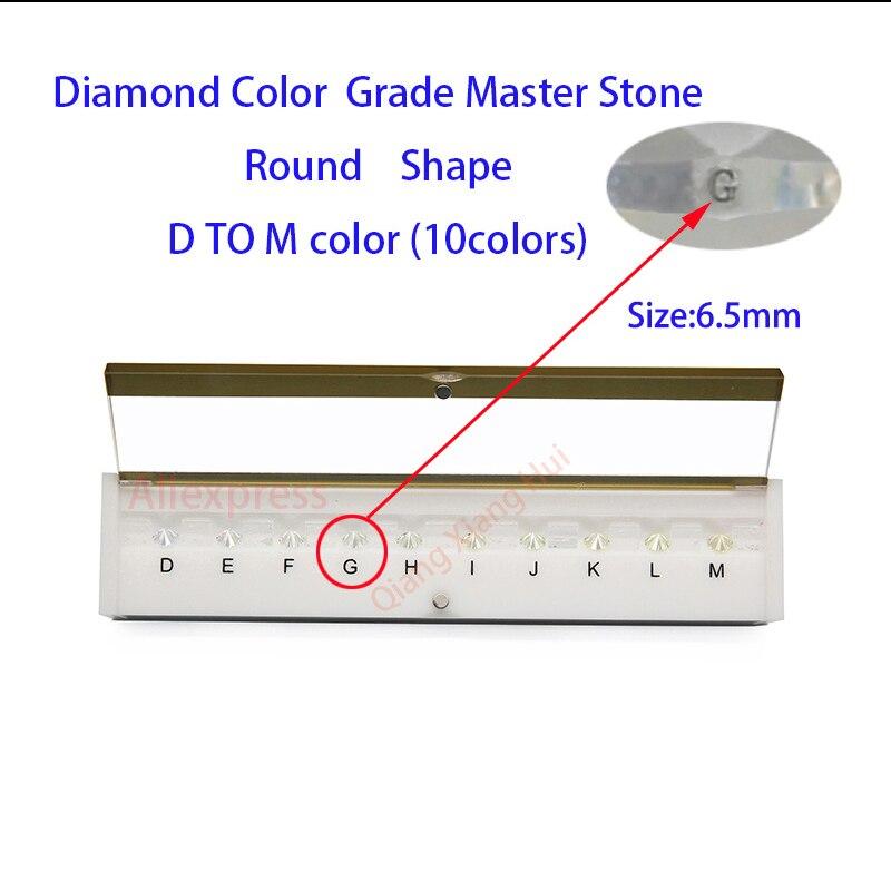 Las especificaciones de peso del diamante maestro y D a M Color blanco forma redonda con láser de piedra de Zirconia cúbica de herramientas