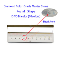 The specifications of diamond weight master and D To M white Color round shape with laser Cubic Zirconia stone Tester Tools