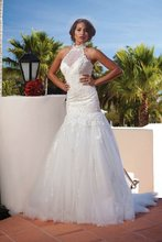 A-237 Free Shipping High Neck Lace Appliques Flirty Wedding Dress 2012