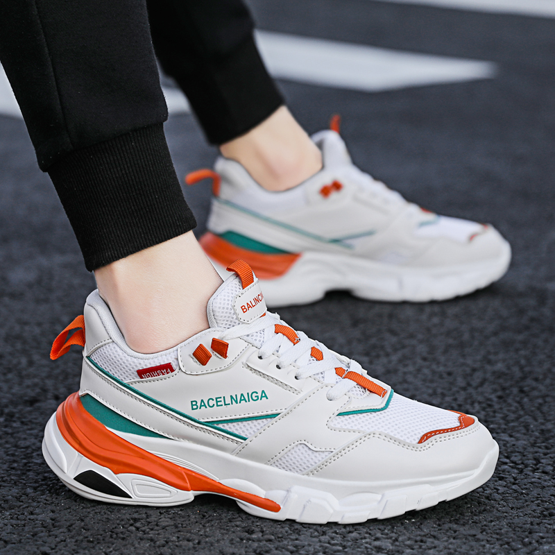 2019 New Sneakers Men Running Shoes Lace up Athletic Breathable Trainers Zapatillas Sports Male Shoes Outdoor Walking Shoes in Running Shoes from Sports Entertainment