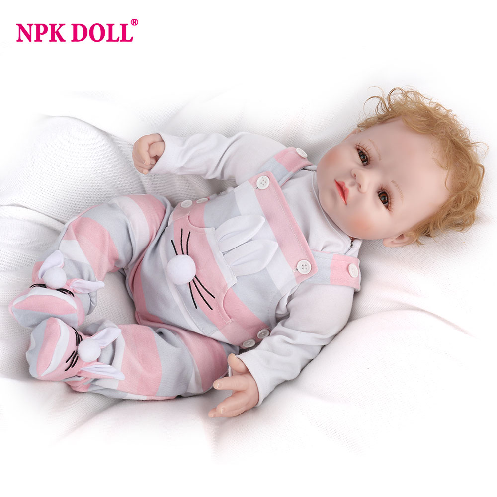 NPKDOLL 50cm 20 Realistic Reborn Baby Doll Handmade BeBe Reborn Toy For Girls Newborn Girl Baby Birthday Gift For Child handmade 18 cute china girl doll reborn baby doll sd bjd doll best bedtime playhouse toy enducational toy for girls as gift