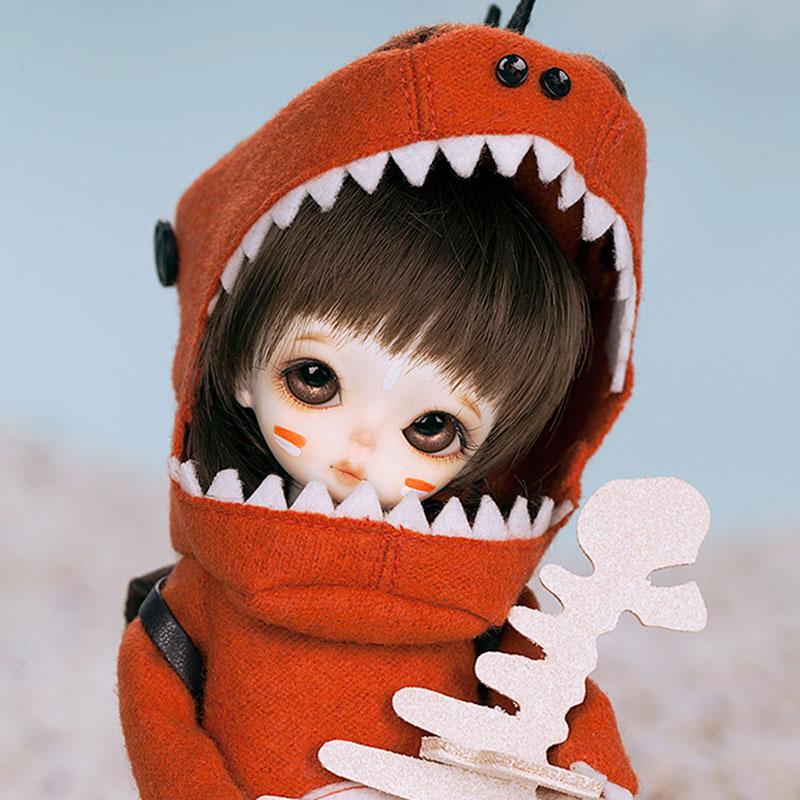 OUENEIFS Dino Holic Amber Withdoll bjd sd doll 1/8 body model reborn baby girls boys dolls eyes High Quality toys shop