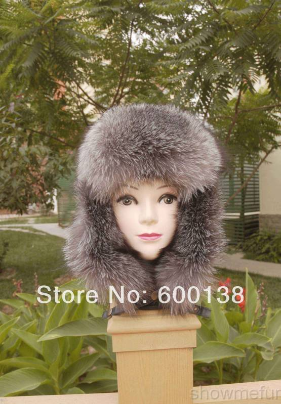 new arrival best quality/silver fox fur hat /ABD03-021 bfdadi 2018 new arrival hat genuine