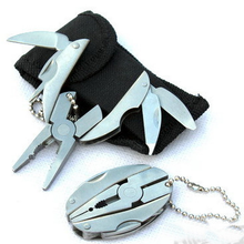 Pocket Knife Multitool 6 In1 Screwdriver Pliers Folding Multi Purpose Outdoor Survival Hand Tools Bicycle Accessories