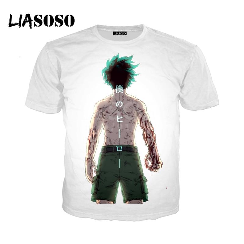 LIASOSO NEW Anime Boku No Hero My Hero Academia Cosplay Tees 3D Print t shirt/Hoodie/Sweatshirt Unisex Good Quality Tops G1380