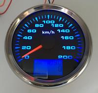 1pc 0 200km/h Auto GPS Speedometer Instrument 85mm LCD Speed Odometer Gauges Trip Meters COG with 8 Kinds Backlight Color