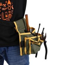 Несколько Карман Холст Сумка с Поясом Hardware Механика Электрик Tool Pack