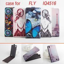 Окрашенные Мода Высокое Качество Новый Оригинальный FLY IQ4516 Leather Case откидная Крышка для FLY IQ 4516 Case Телефон Покрытия В на складе