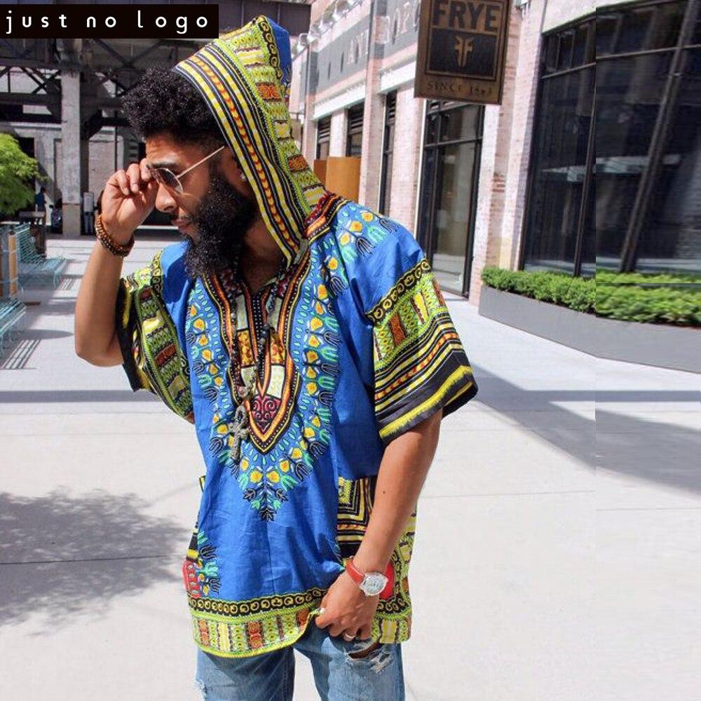 Women Men African Dashiki Hoodies T Shirt Hiphop Kenya