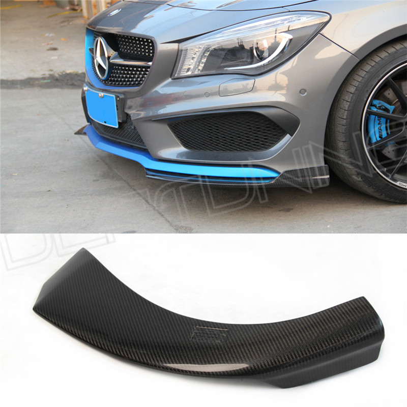 Mercedes cla carbon spoiler front splitter 2014 2015 2016 for 2015 mercedes benz cla class cla 45 amg
