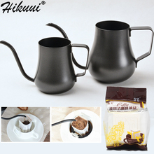 300/500ml Stainless Steel Hand Coffee Pot Long Mouth Water Outlet Drip Cofee Pot With Filter Teapot Coffee Tea Tools